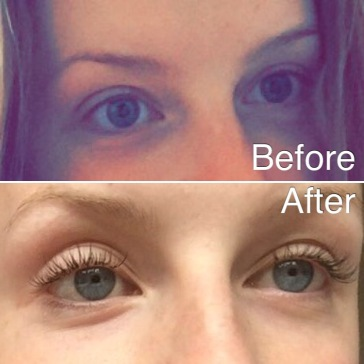 EYE LASH EXTENSIONS BEFORE AND AFTER
